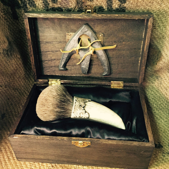"""Old Thunder"" Limited Edition Custom Shaving Brush - The Holy Black Trading Co  - 1"