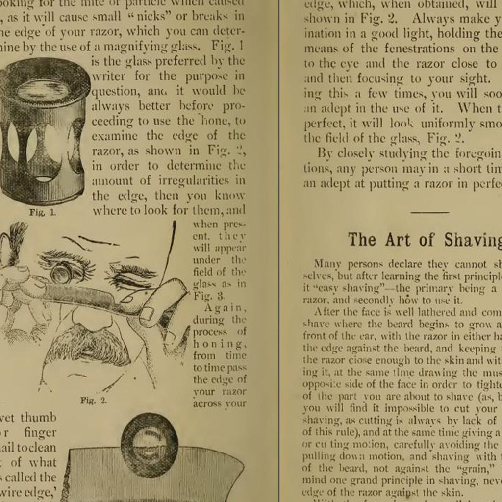 FREE Art of Honing a Razor. Art of Shaving. PDF of Antique Barber Manual. - The Holy Black Trading Co