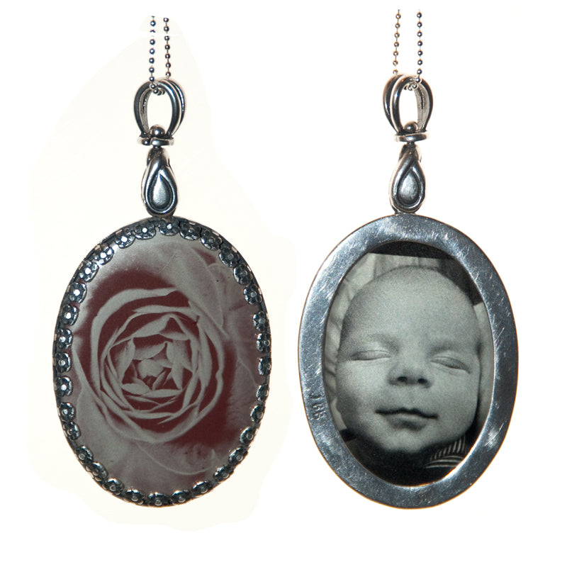 tintype pendant, how to make a tintype, wet plate collodion, digital tintype, tintype, how do I make a tintype, tintype jewelry