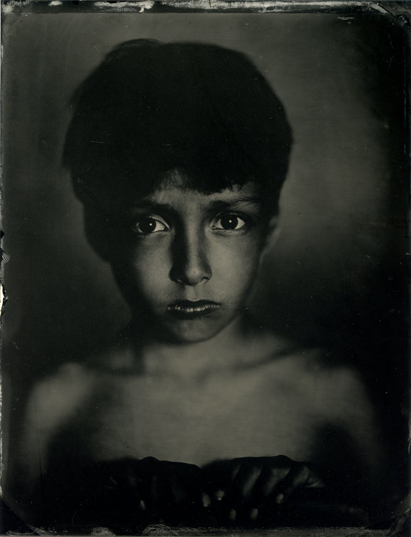 tintype, in camera tintype, children's tintype, how to make a tintype