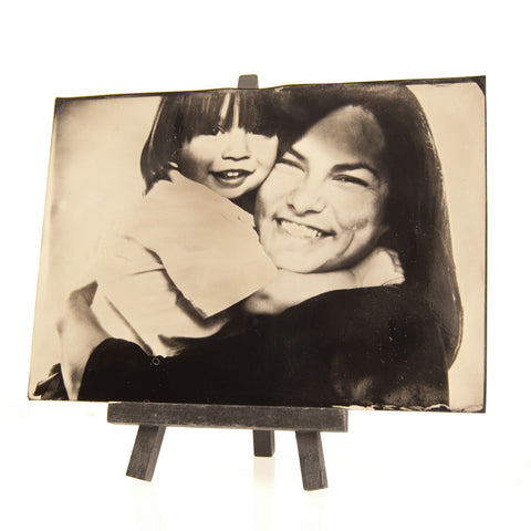 Ambrotype Image of Mother and Son