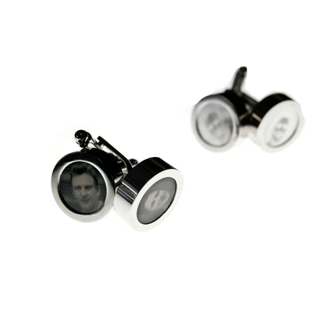 Digital Tintype Cufflinks Example