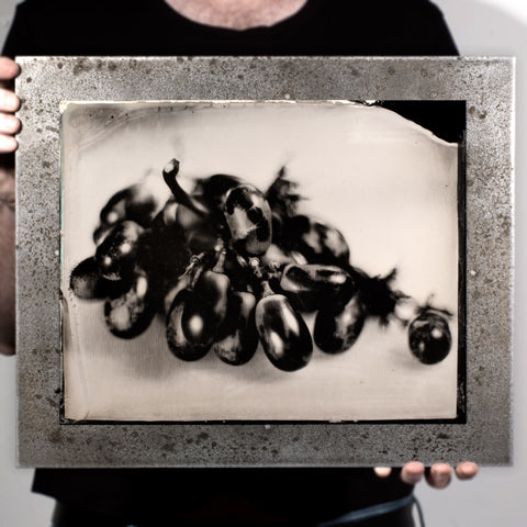 Industrial Produce | Grapes - A Tintype Sill Life