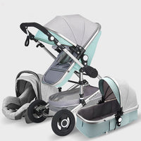 Luxury Baby Stroller 3 in 1, Portable Baby Pushchair, Baby Comfort for Newborn Pram