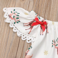 Christmas Deer Romper for Newborn Baby Girls