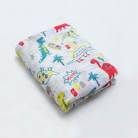 Organic Cotton Muslin Baby Blankets, Newborn Soft Swaddle Wrap