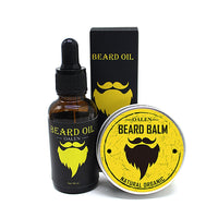 Men Beard Grooming Kit, Gift Set, Beard Oil + Moisturizing Wax + Styling Comb + Scissors, 8pcs