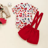 Christmas Baby Bow Clothes Set (Romper + Pants)