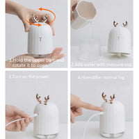USB Aroma Diffuser Cool Mist Humidifier 220ml for desk