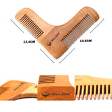 Double Beard Comb, Wooden Beard Shaping Comb