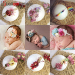 Flower Headband Newborn Baby Artificial Floral Hair Accessories, Infant Headwear