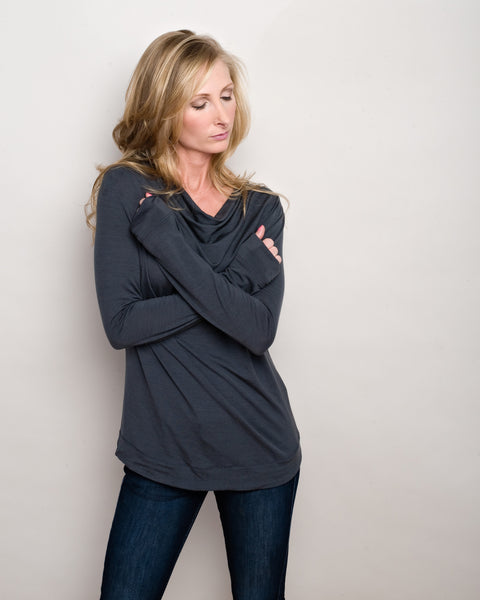 Merino Wool Long Sleeve T-Shirt for Fitness, Yoga, and Running