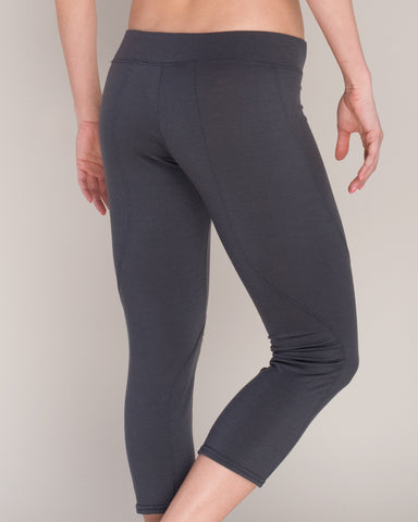 Leslie Merino Crop Leggings - Gray