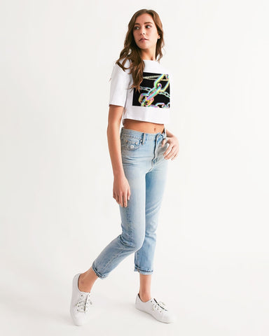 Neon Chains Cropped Tee