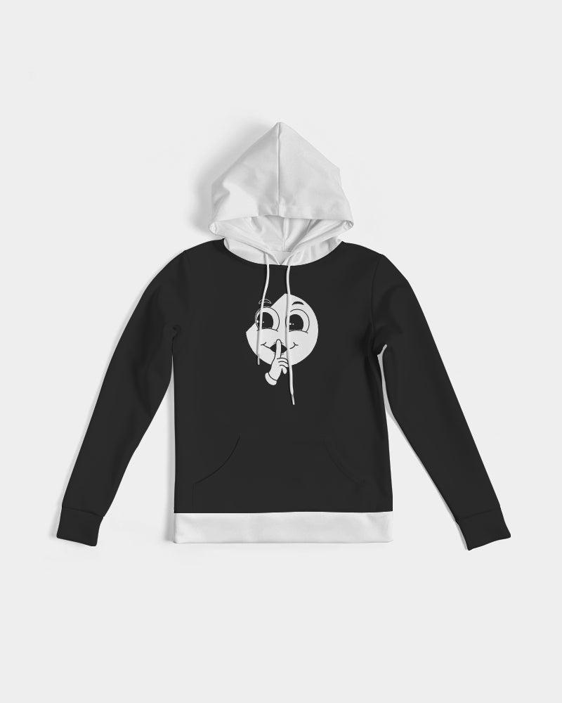 Silent Confidence Black/White Signature Slim Hoodie