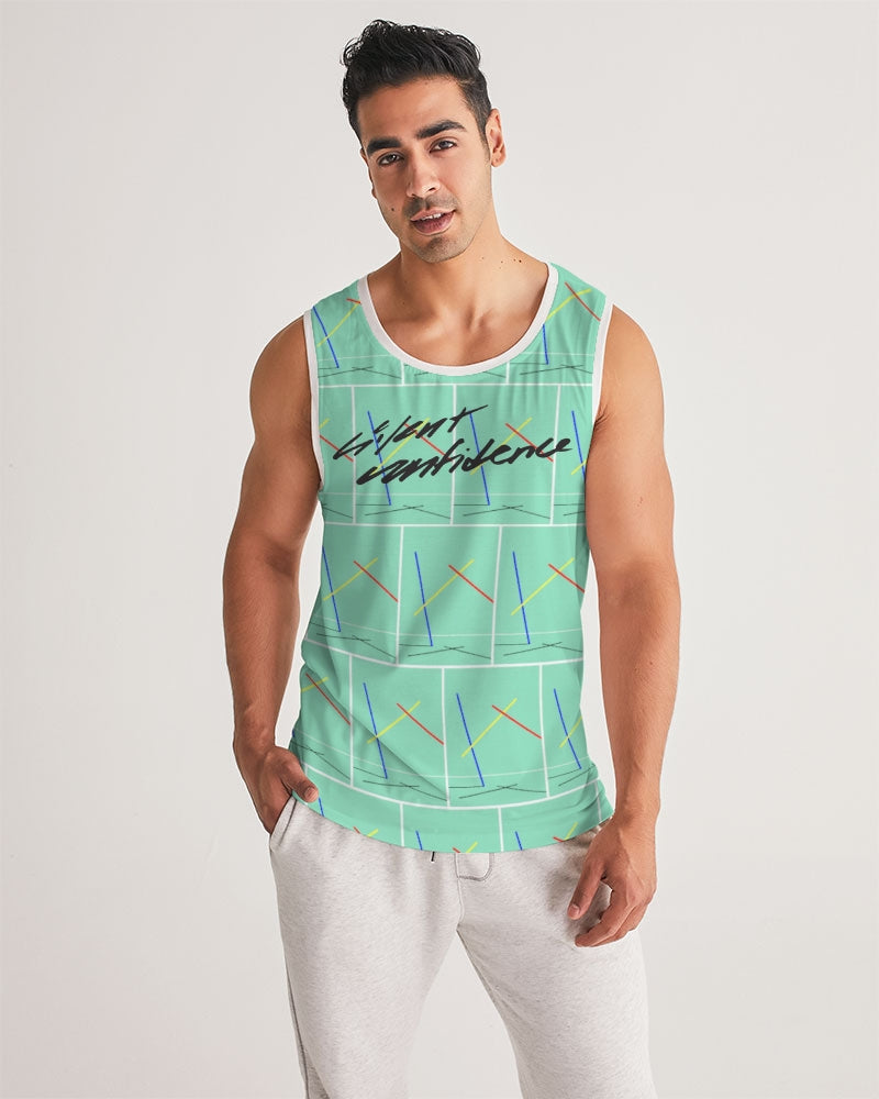 Abstract Spacious Sports Tank