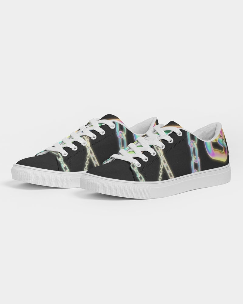 Neon Chains Slim Faux-Leather Sneaker