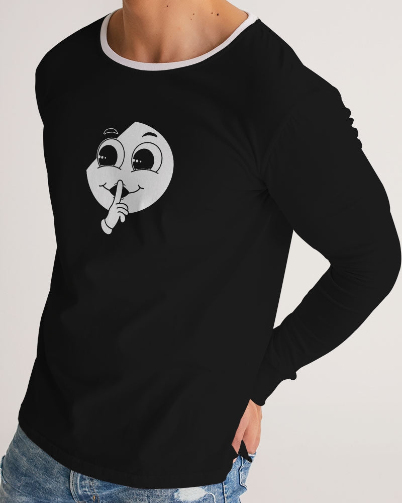 Silent Confidence Black/White Signature Long Sleeve Tee