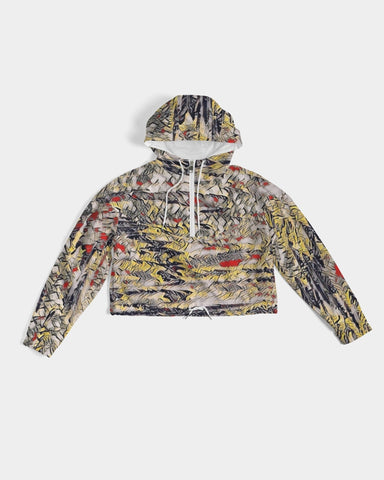 Canvas Drip Cropped Windbreaker