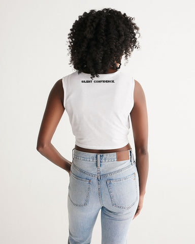 Geometry Crop T Twist-Front Tank