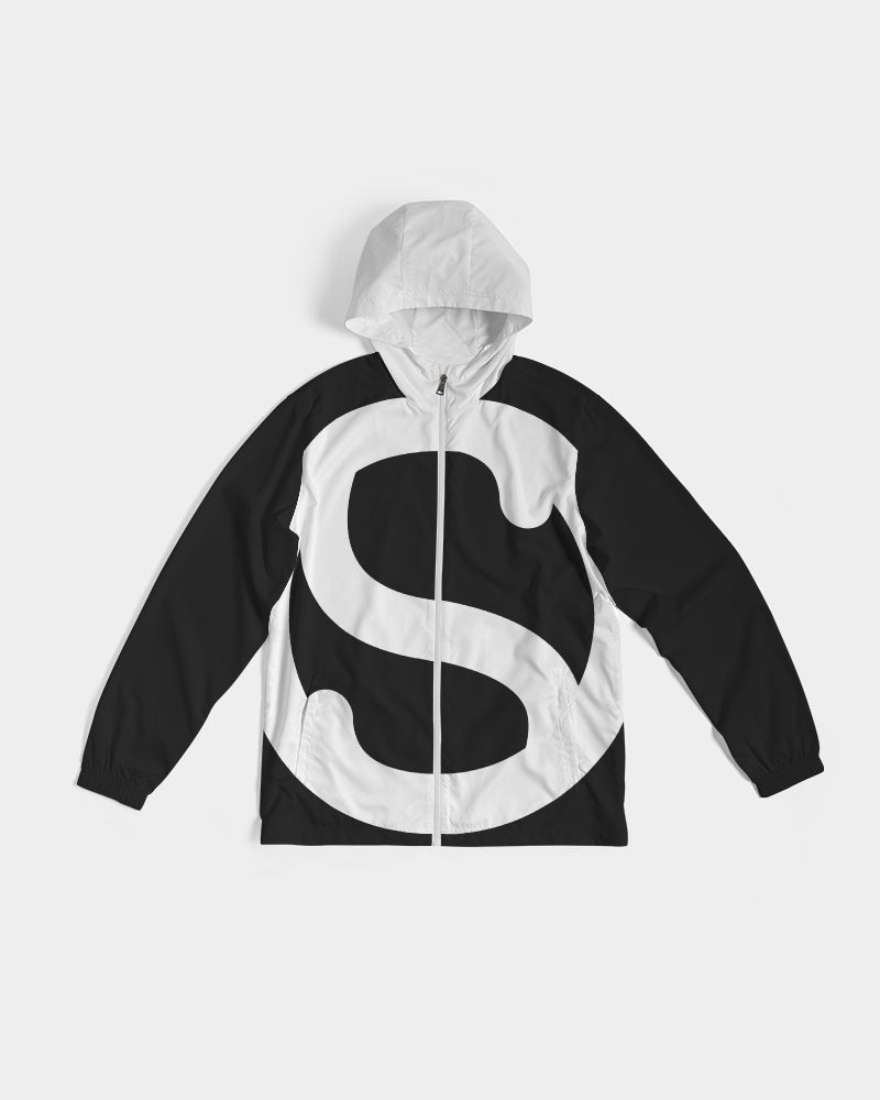 Silent Confidence Black/White Signature Windbreaker