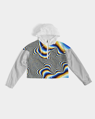 Psychedelic Cropped Windbreaker