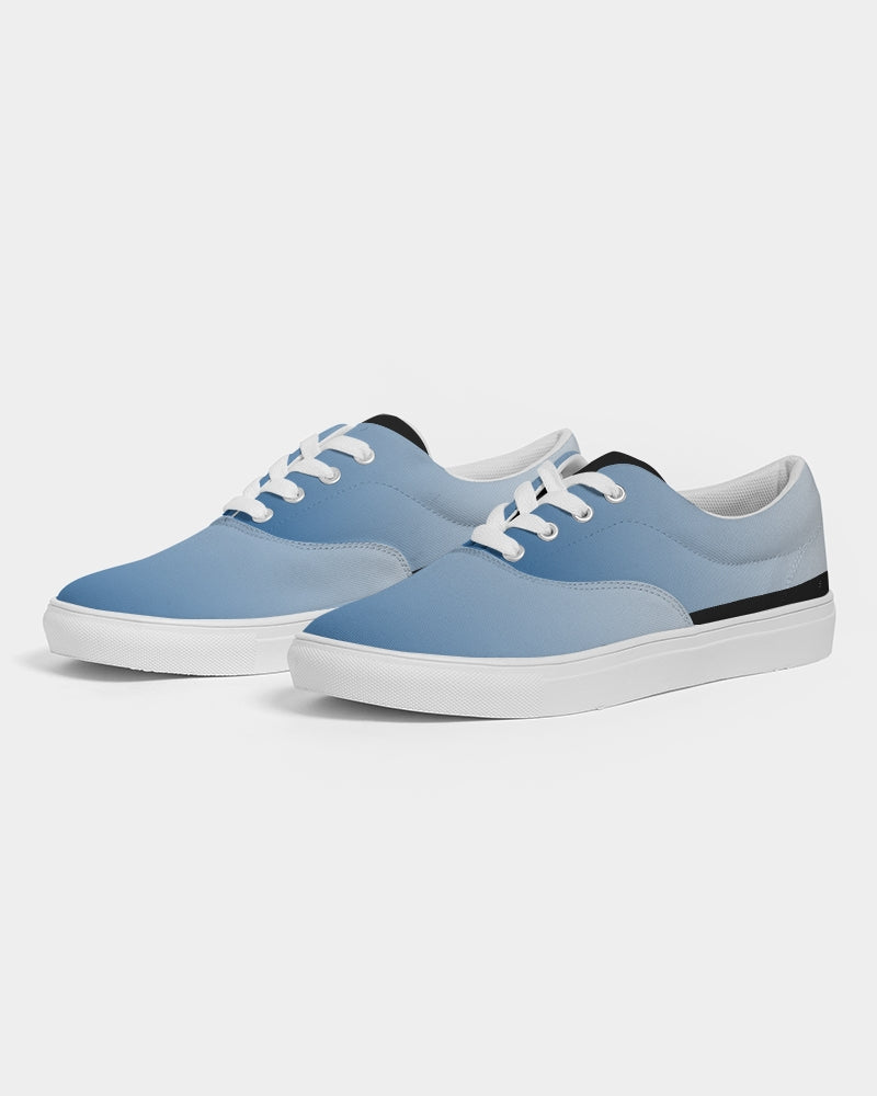 Tie Dye Blue Lace Up Canvas Shoe