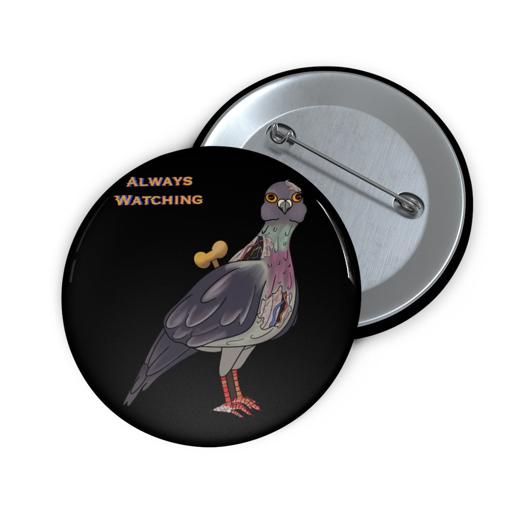 Government Pigeon Pin Button