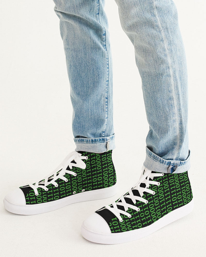 Binary Hightop Canvas Shoe