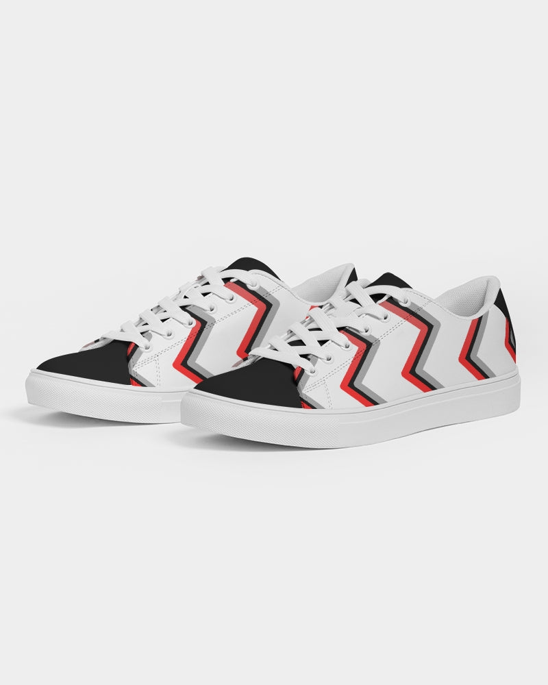 Zig Zag Faux-Leather Sneaker