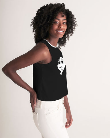 SC White x Black Signature Cropped Tank