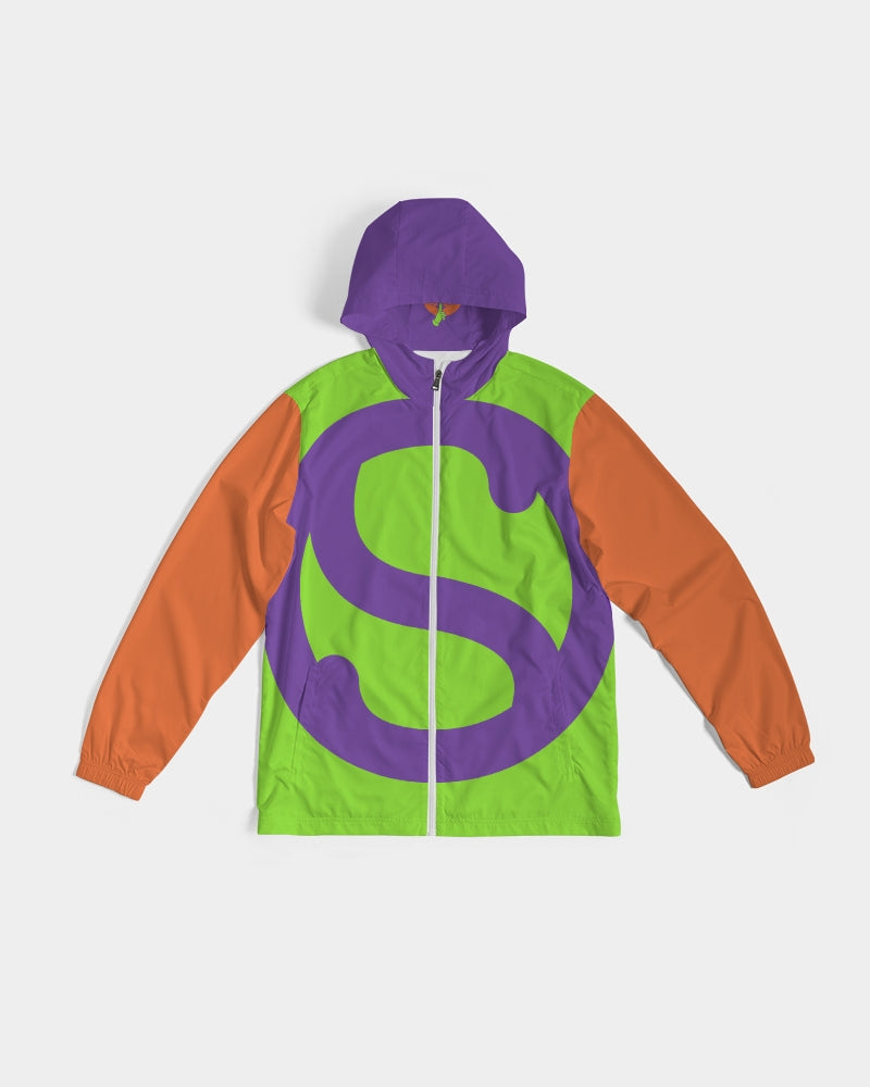 Halloween Purple X Orange X Green Windbreaker