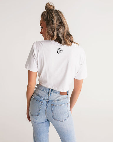 Mountain Mama Twist-Front Cropped Tee