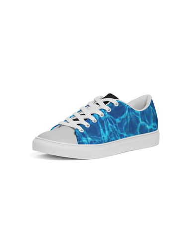 Aqua Faux-Leather Sneaker