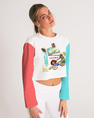 Album Cover Cropped Sweatshirt