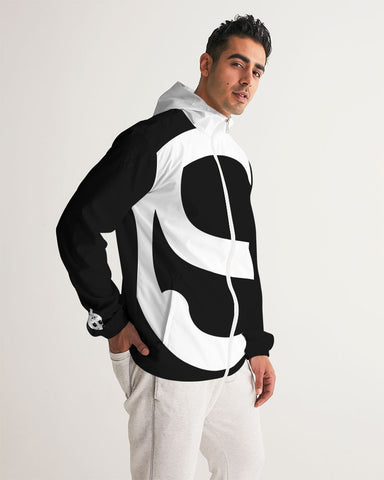 Silent Confidence Black/White Signature Men's Windbreaker