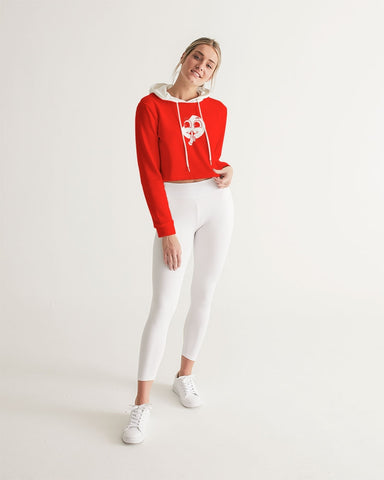 SC White x Red Signature Slim Cropped Hoodie