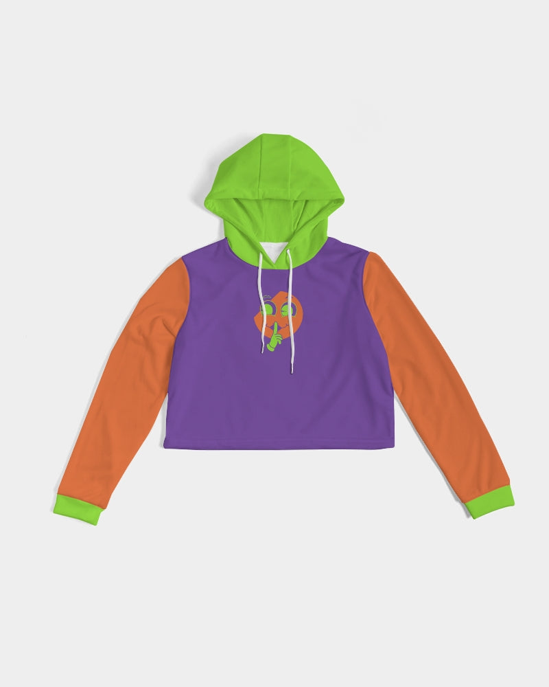 Halloween Purple X Orange X Green Cropped Hoodie