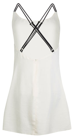 IVORY SATIN SLIP DRESS