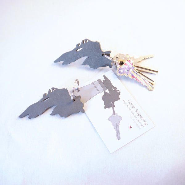 Lake Superior keychain bottle opener