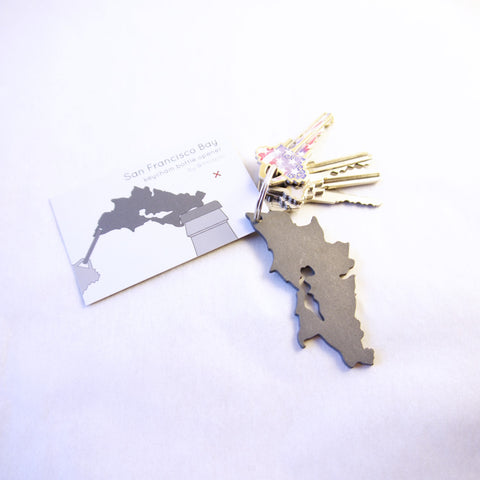 San Francisco Bay keychain bottle opener