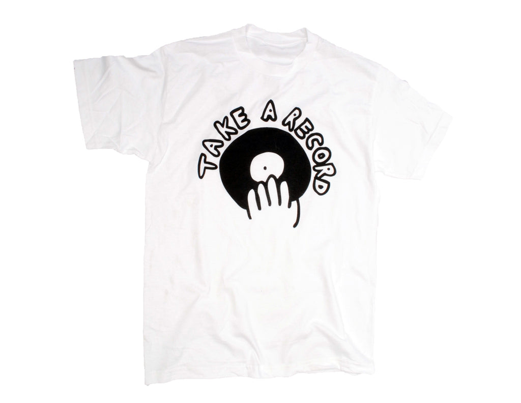 Take A Record Logo Tee (Classic Black on White)