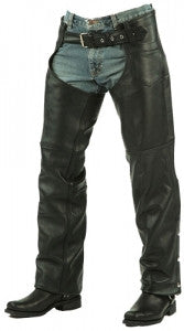 Unik Ultra Lined Black Leather Chaps