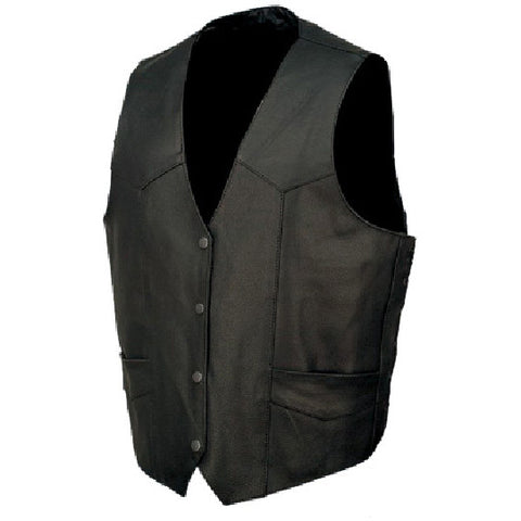 Men's Basic Leather Vest