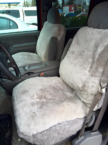 Pet Seat Covers >> Custom Sheepskin Car and Truck Seat Covers | Alaska Leather