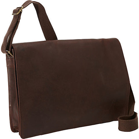 R&R Dakota Brown Leather Messenger Bag