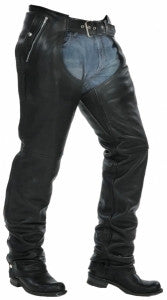 Unik Snap Out Liner Black Leather Chaps