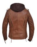 3 in 1 Lambskin Derringer Motocycle Jacket