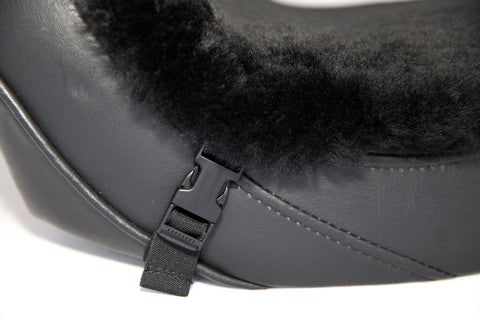 Motorcycle Seat Cover Sheepskin Buttpad