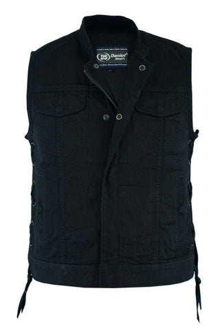Women's Side Laces Denim Vest